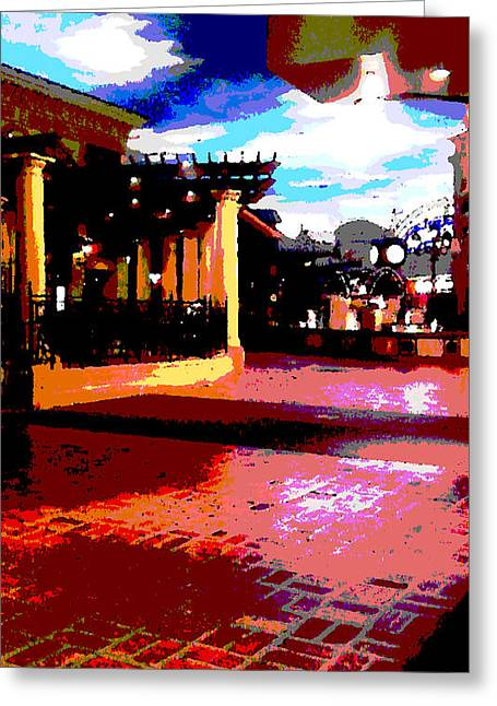 Web Gallery Greeting Cards - Shops Greeting Card by David Alvarez