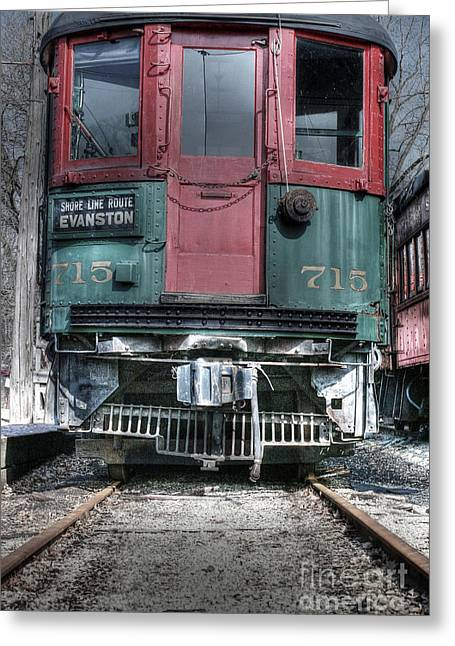 Evanston Greeting Cards - Shore Line Route Evanston Greeting Card by David Bearden