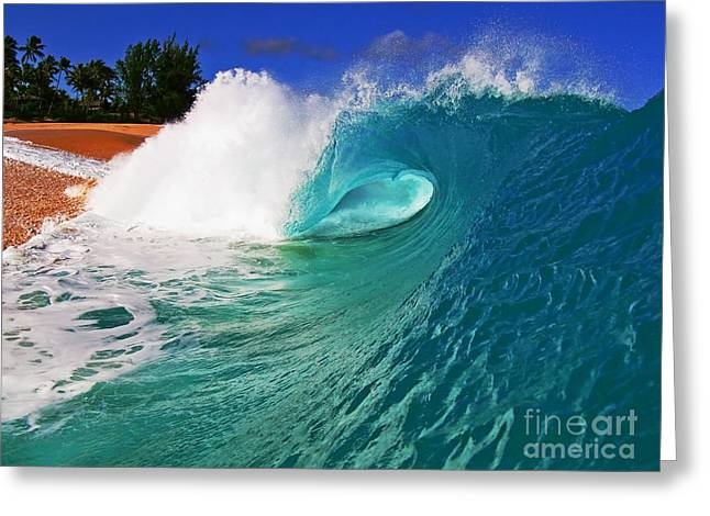 Surfing Art Greeting Cards - Shorebreaker Greeting Card by Paul Topp