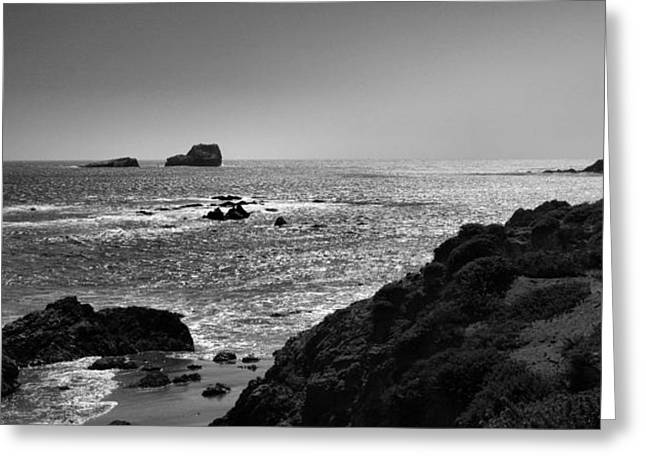 Shoreline Near Piedras Blancas I Greeting Card by Steven Ainsworth