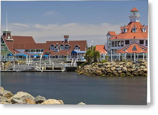California Beach Art Greeting Cards - Shoreline Village Greeting Card by Heidi Smith