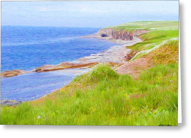 Atlantic Greeting Cards - Shores of Newfoundland Greeting Card by Jeff Kolker