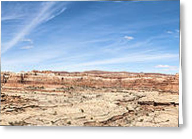White Sandstone Greeting Cards - Shot Canyon in the Maze 4 Greeting Card by Scotts Scapes