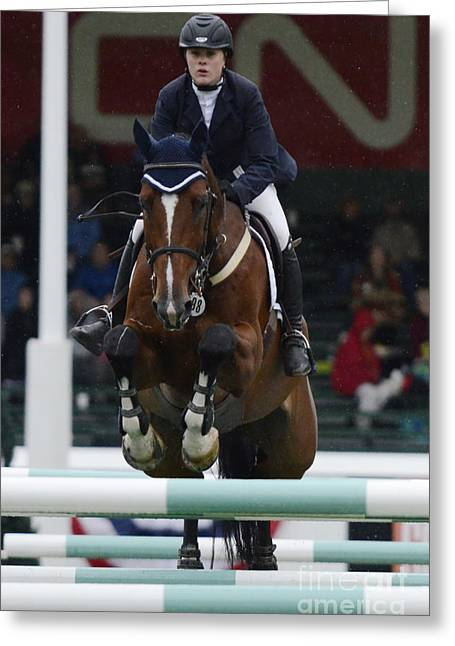 Show Jumping 6 Greeting Card by Bob Christopher