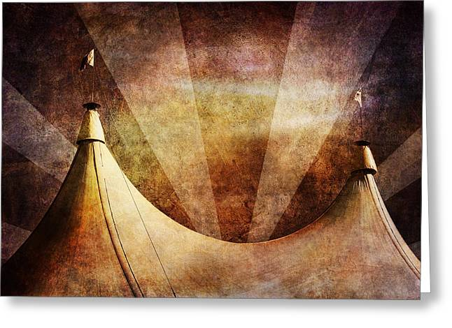 Golds Digital Art Greeting Cards - Showtime Greeting Card by Andrew Paranavitana