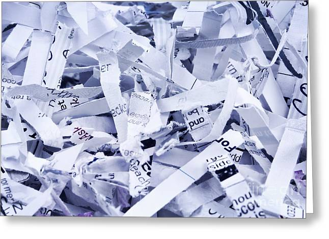 Paper Cut Greeting Cards - Shredded paper Greeting Card by Blink Images