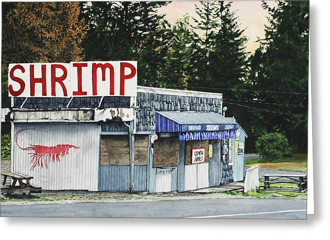 Best Sellers -  - Shack Greeting Cards - Shrimp Greeting Card by Perry Woodfin