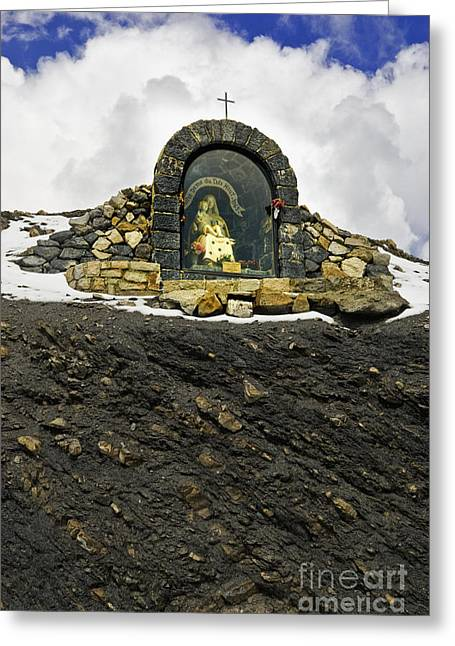 Southern France Greeting Cards - Shrine on Mountainside Greeting Card by Jon Boyes