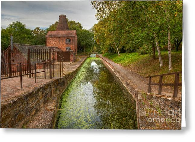Kiln Greeting Cards - Shropshire Canal Greeting Card by Adrian Evans
