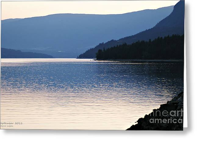 Setting Framed Prints Greeting Cards - Shuswap Lake British Columbia Greeting Card by Jayne Logan Intveld