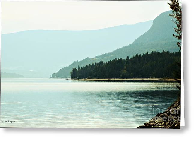 Lakescape Greeting Cards - Shuswap Lake in Beautiful British Columbia Greeting Card by Jayne Logan Intveld