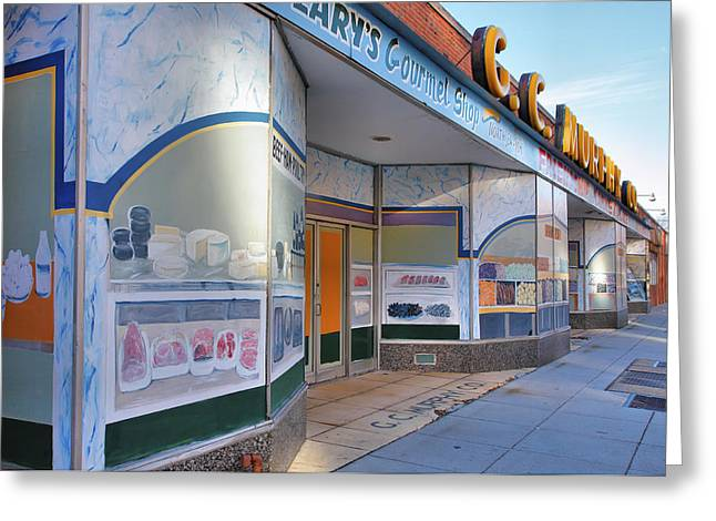 Food Stores Greeting Cards - Shuttered Food Store Greeting Card by Steven Ainsworth
