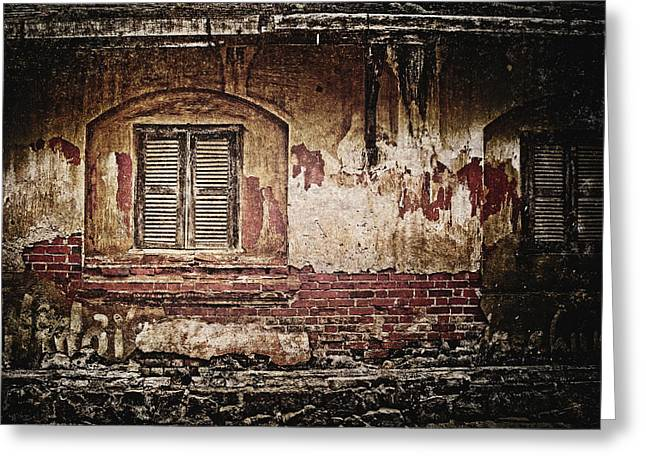Broken Shutters Greeting Cards - Shuttered Window Greeting Card by Skip Nall