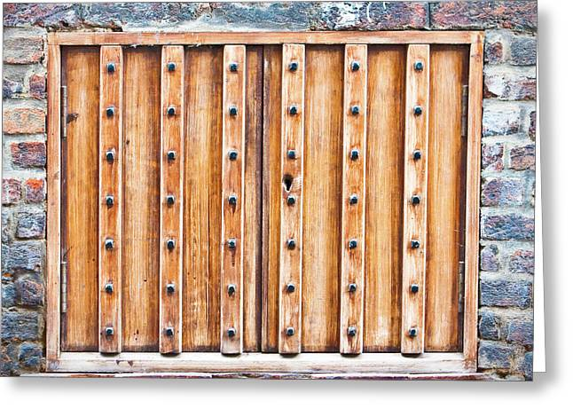 Stud Greeting Cards - Shutters Greeting Card by Tom Gowanlock