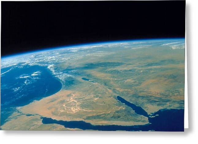 Shuttle Photograph Of The Middle East Greeting Card by Nasa