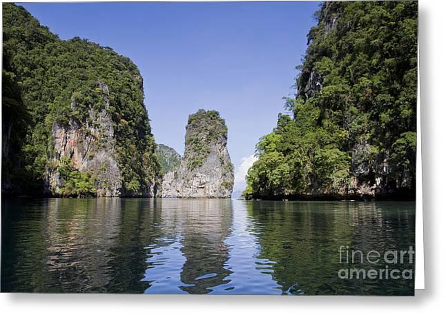 Si Greeting Cards - Si Phang-nga national park Greeting Card by Sv
