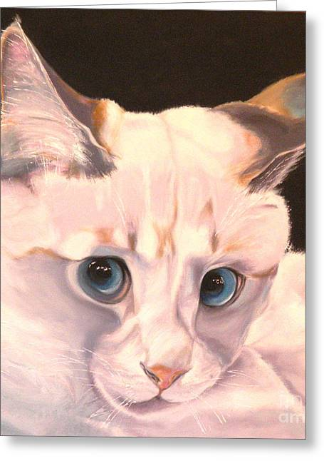 Siamese Cat Greeting Card Greeting Cards - Siamese Rescue - Gem of a Kitten Greeting Card by Susan A Becker