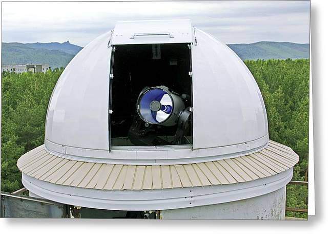 Telescope Dome Greeting Cards - Siberian Federal University Telescope Greeting Card by Ria Novosti