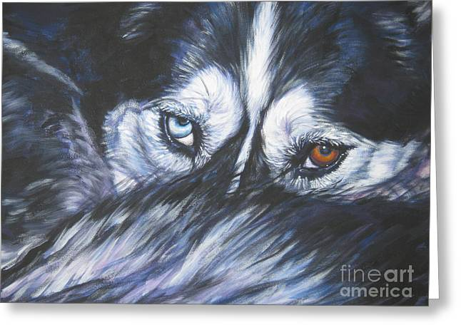 Siberian Husky eyes Greeting Card by Lee Ann Shepard