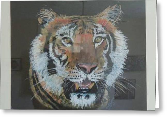 David Byrne Greeting Cards - Siberian Tiger Greeting Card by David Byrne