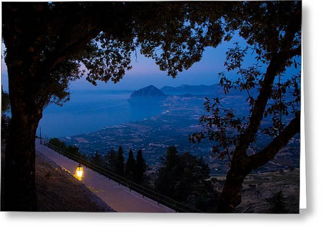 Latern Greeting Cards - Sicilian dusk Greeting Card by Marco Busoni