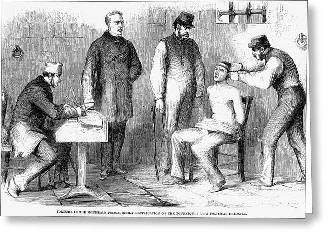 Sicily: Torture, 1860 Greeting Card by Granger