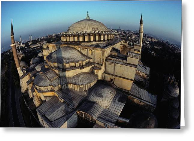 Byzantine Greeting Cards - Side Domes And Minarets Gather Greeting Card by James L. Stanfield