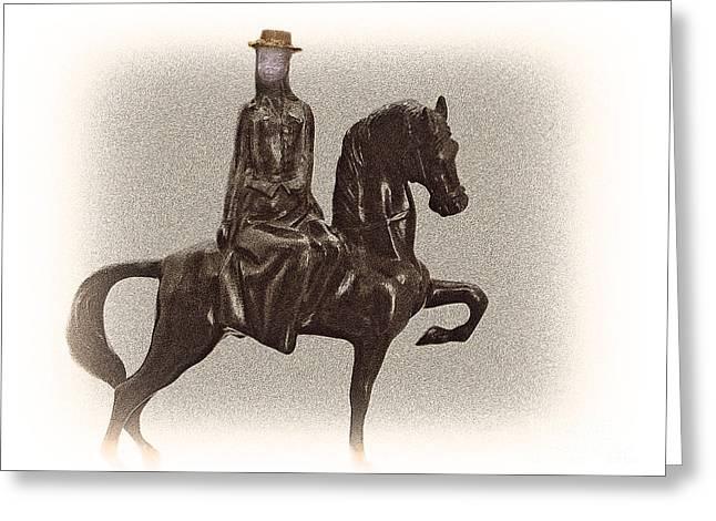 Sidesaddle Greeting Cards - Side Saddle Greeting Card by Al Bourassa