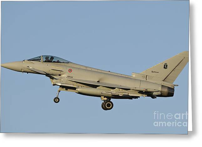 Civil Aviation Greeting Cards - Side View Of An Italian Air Force Greeting Card by Giovanni Colla