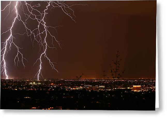 Scottsdale Lightning Greeting Cards - Sidekicks Greeting Card by Cathy Franklin