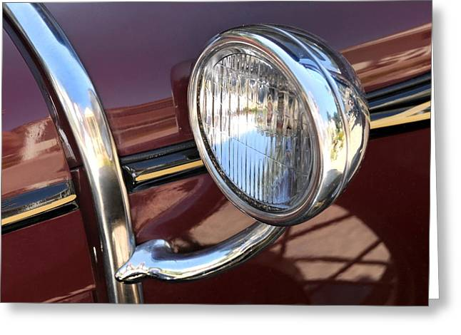Ford Automobiles Greeting Cards - Sidelight Greeting Card by Dan Holm