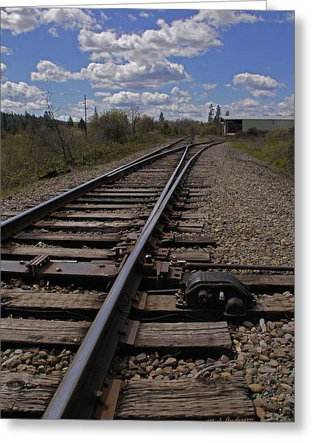 Rail Siding Greeting Cards - Siding in Grants Pass Greeting Card by Mick Anderson