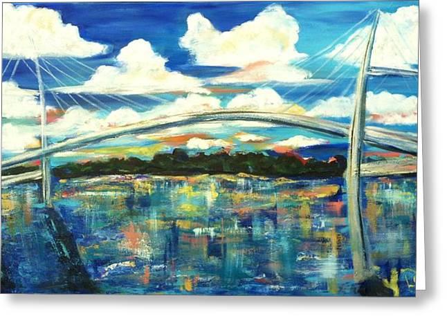 Doralynn Lowe Greeting Cards - Sidney Lanier Bridge Greeting Card by Doralynn Lowe