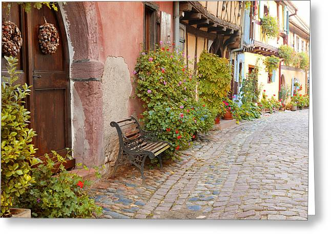 Alsace Greeting Cards - Siecle 16 Ta Greeting Card by John Galbo