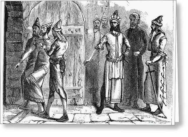 Baghdad Greeting Cards - Siege Of Baghdad, 1258 Greeting Card by Granger