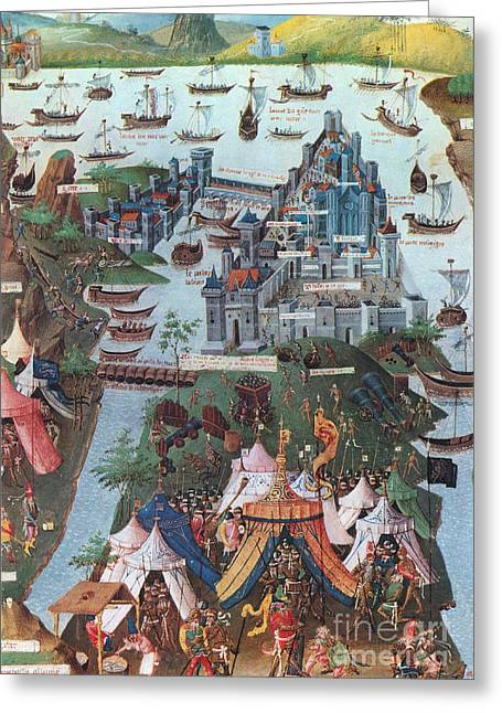 Byzantium Greeting Cards - Siege Of Constantinople, 1453 Greeting Card by Photo Researchers