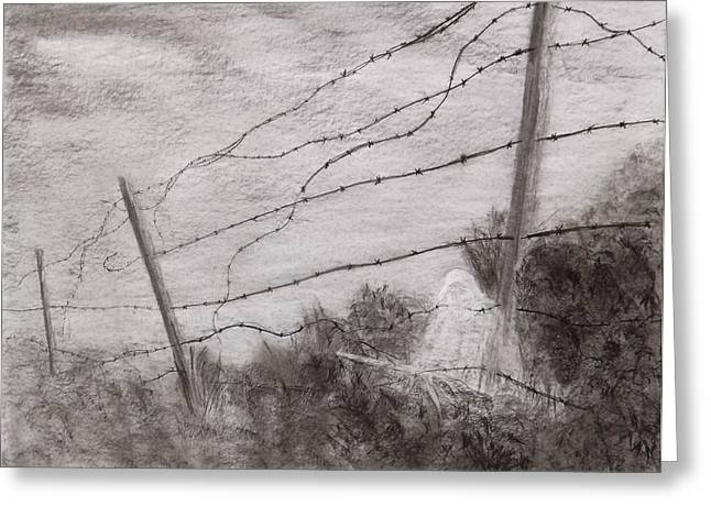 Second Gulf War Greeting Cards - Siege Of Leningrad Wire Relict 2 Relict Greeting Card by Alex Mortensen