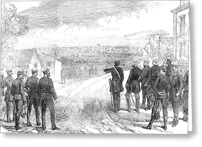 Engraving Greeting Cards - Siege Of Paris, 1870 Greeting Card by Granger