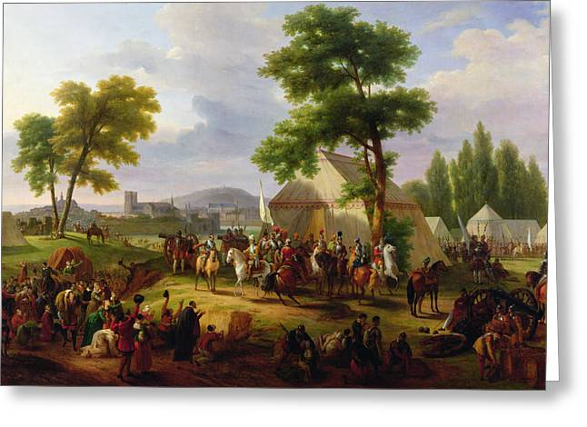 1854 Greeting Cards - Siege of Paris by Henri IV Greeting Card by Guillaume Frederic Ronmy