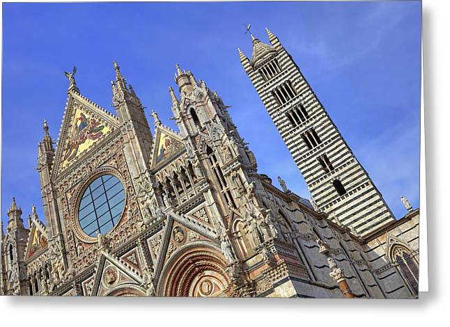 Siena Italy Greeting Cards - Siena - cathedral Greeting Card by Joana Kruse