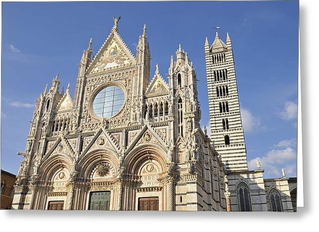 Siena Italy Greeting Cards - Siena Cathedral - Duomo Santa Maria Assunta Greeting Card by Matthias Hauser