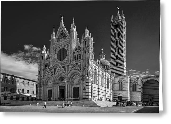 Johnhost Greeting Cards - Siena Duomo Greeting Card by Michael Avory
