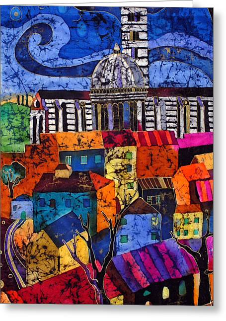 Cathedral Tapestries - Textiles Greeting Cards - Siena Greeting Card by Sandra Kern