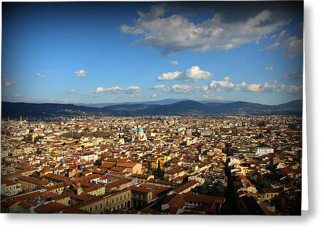 Siena Scenery Greeting Card by Kevin Flynn