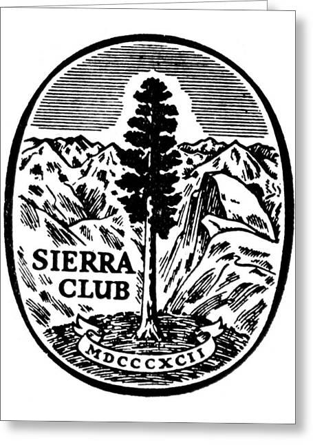 Seal Drawings Greeting Cards - Sierra Club Seal Greeting Card by Granger