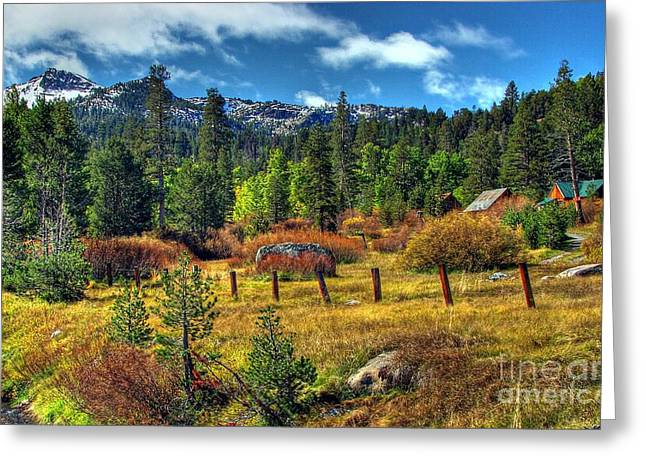 Old Barns Greeting Cards - Sierra Nevada Fall Majesty Greeting Card by Scott McGuire