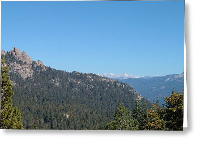 Mountain View Greeting Cards - Sierra Nevada Mountains 3 Greeting Card by Naxart Studio