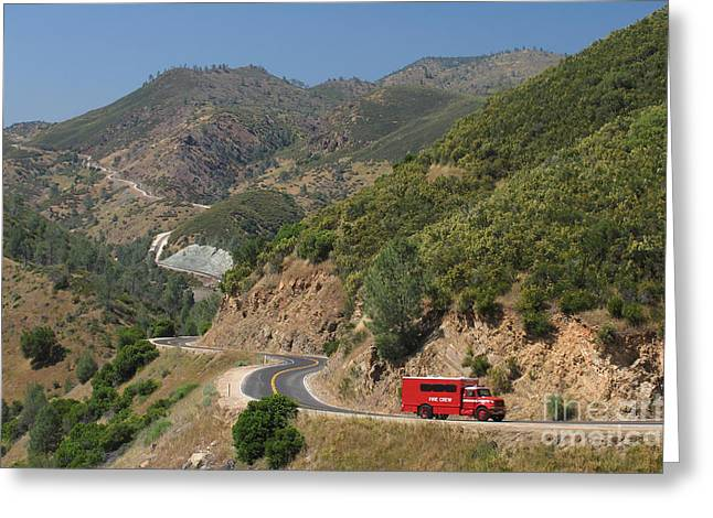 Road Crew Greeting Cards - Sierra Nevada Mountains Greeting Card by Jaak Nilson