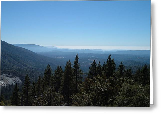 Sierra Nevada Mountains Greeting Card by Naxart Studio