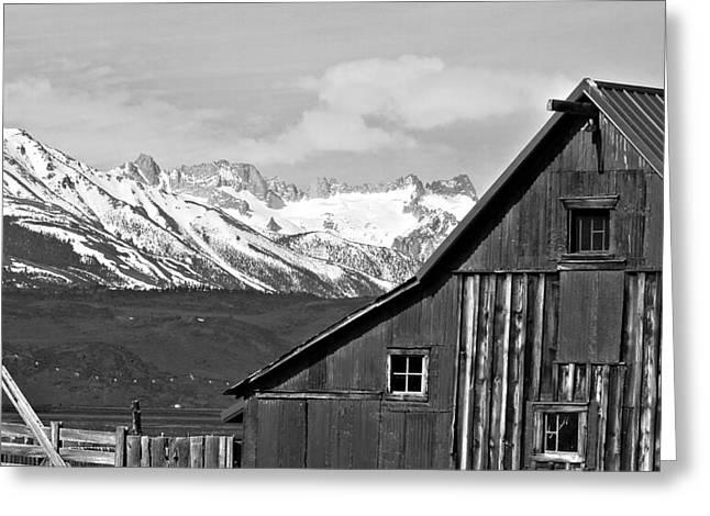 Rustic Greeting Cards - Sierra Nevada Rustic Barn Greeting Card by Scott McGuire